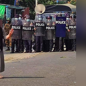 Amidst escalating violence, a solitary nun stands her ground.
