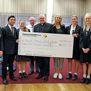 Students dig deep for Annual Catholic Campaign
