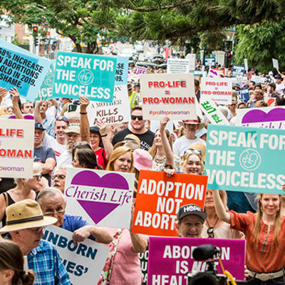 Thousand take to Brisbane city streets to promote the dignity of all life